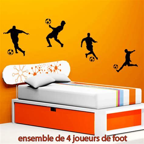 Stickers Chambre 941 by Stickers 4 Joueurs De Foot Sport Foot Destock Stickers