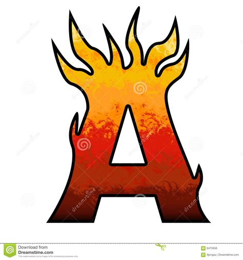 printable letters with flames flames alphabet letter a royalty free stock image