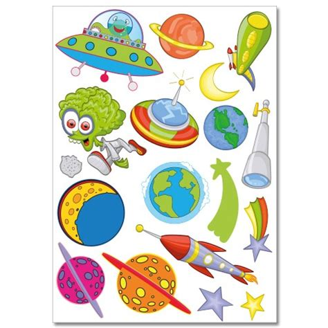 wandtattoo kinderzimmer planeten wandsticker set a4 weltraum und planeten