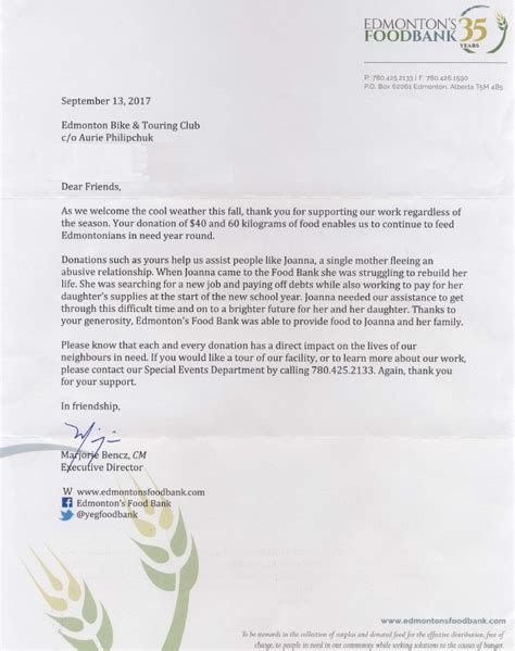Thank You Letter For Caign Donation charity caign letter exles 28 images charity letters