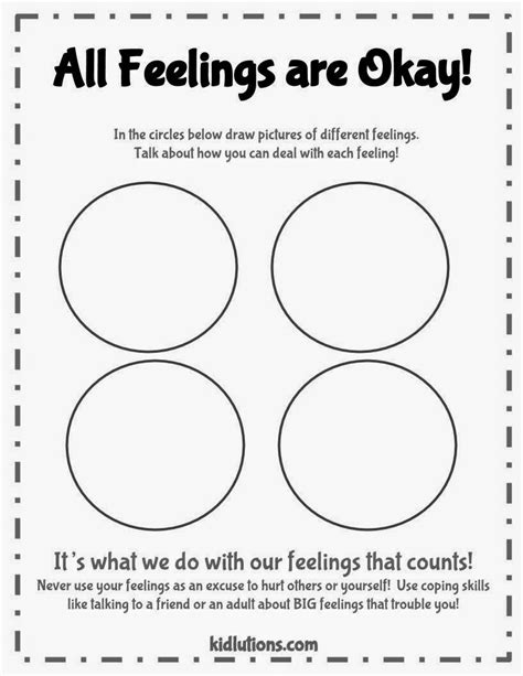 worksheets for preschoolers about feelings quot spin doctor parenting quot all feelings are okay printable