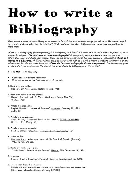 How To Write A Bibliography For An Essay for my annotated biography that has already been done