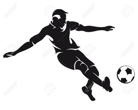 soccer player clipart football player clipart black and white clipartion