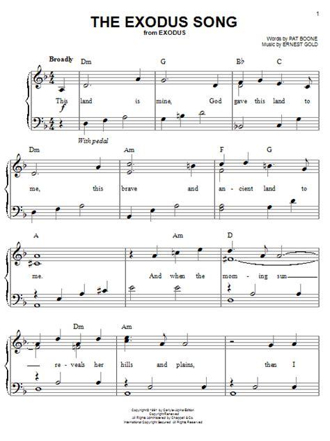 theme music exodus film the exodus song sheet music direct