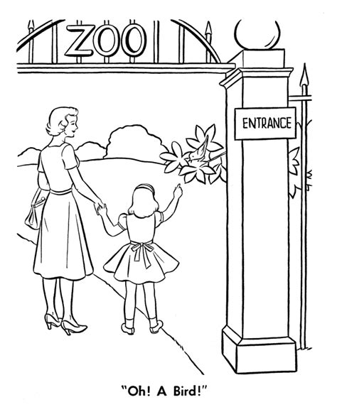 coloring page zoo free printable zoo coloring pages for