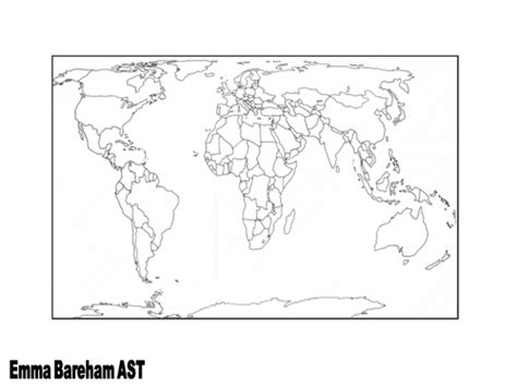 printable blank world map ks1 world map by tes community teaching resources tes