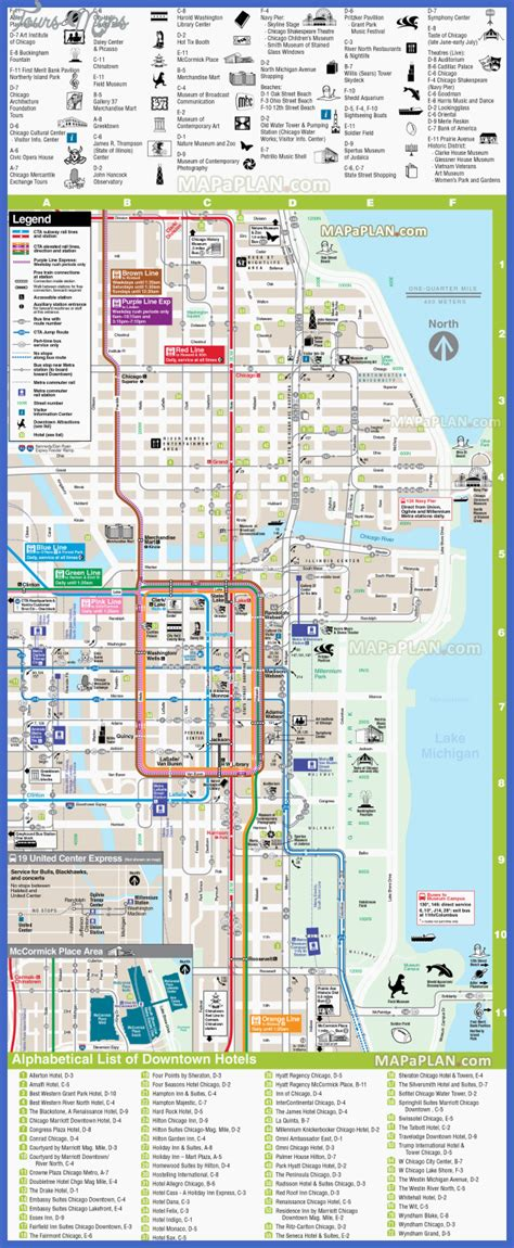 chicago map attractions chicago map tourist attractions toursmaps