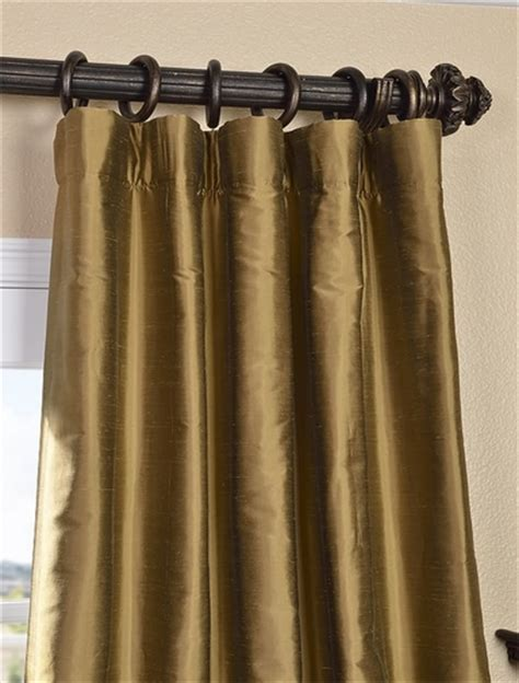 taupe silk curtains shop taupe gold thai silk curtains and drapes