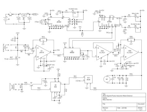 pulse induction schematic pi metal detector circuit diagram pi free engine image for user manual