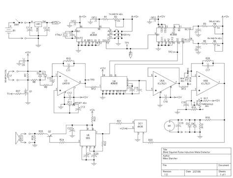 pulse induction detector circuit gt sens detectors gt metal detector circuits gt pulsed induction metal detector l6268 next gr