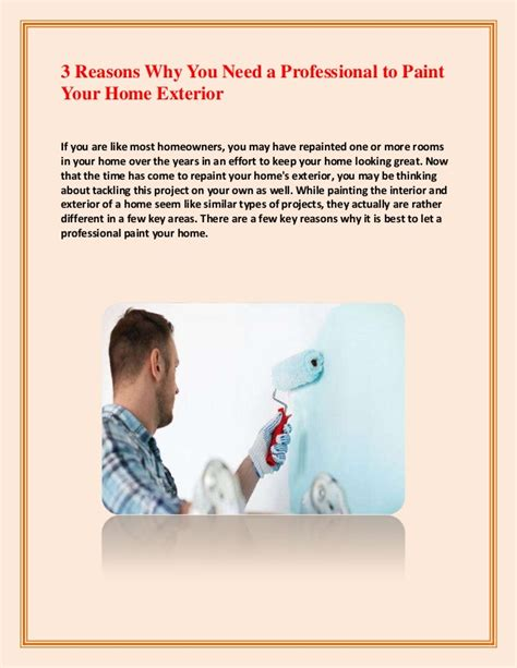 3 reasons why you need a professional to paint your home