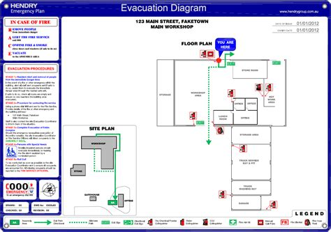 occupant emergency plan template exit diagrams wiring diagram free