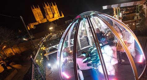 lincoln tap house first look rooftop dining igloos with views of lincoln castle and cathedral