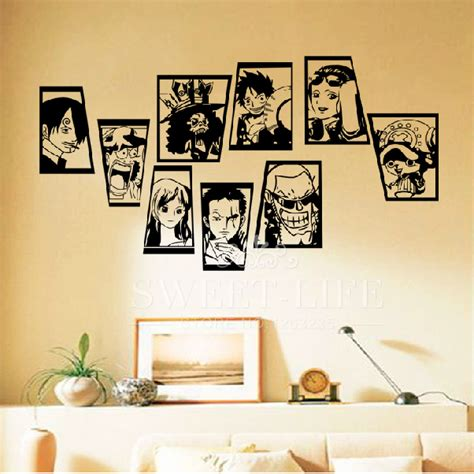 one classic anime characters wall stickers home
