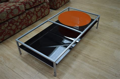 glass and stainless steel coffee table miniforms glass and stainless steel coffee table