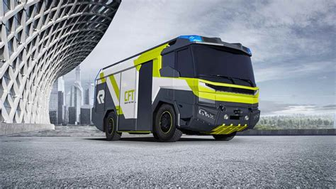 rosenbauer presents concept study for the fire truck of