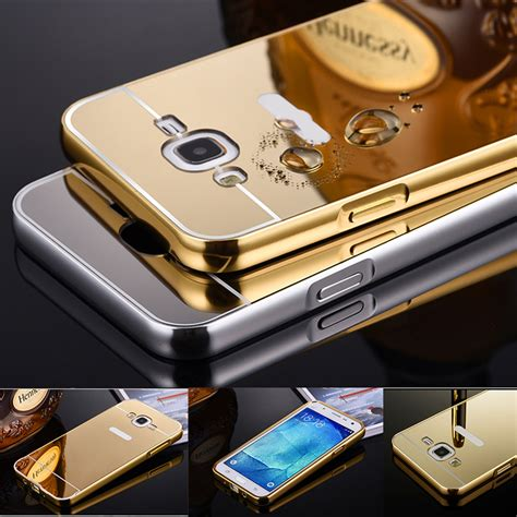 J7 2015 J700 J700f Mirror Cover Flip For Samsung Galaxy J7 2 for galaxy j7 mirror aluminum for samsung galaxy j7