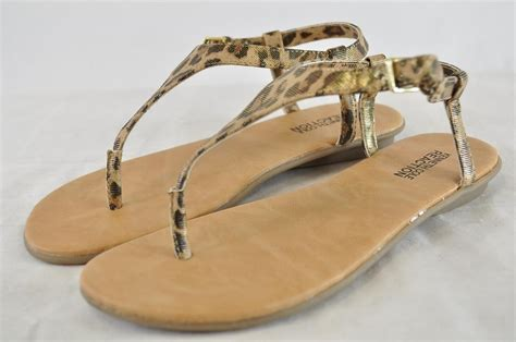 leopard t sandals kenneth cole reaction hunny leopard print t