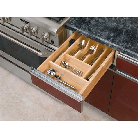 Cutlery Drawer Storage by Shop Rev A Shelf 22 In X 14 62 In Wood Cutlery Insert