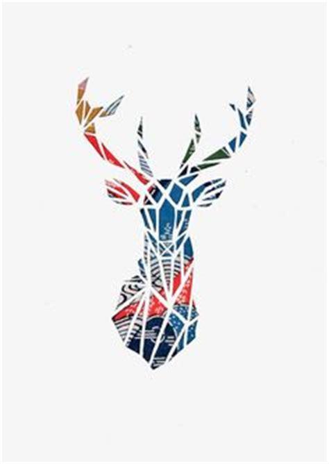 Geometric Wall Stickers nursery art deer head print deer art nursery decor