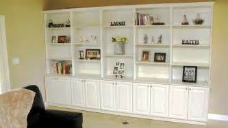 Built In Bookshelves And Cabinets Domestinista Living Room Built Ins On A Budget