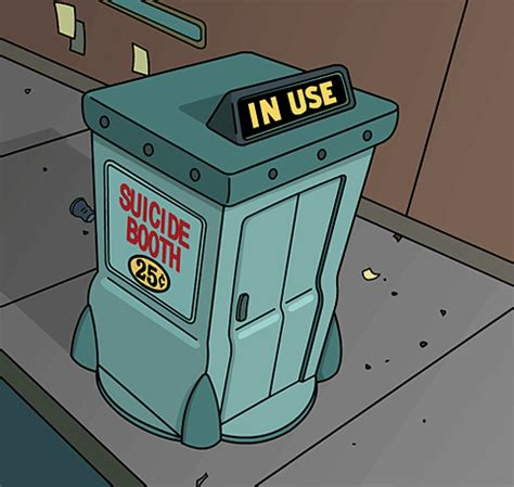 suicide booth in use (futurama) | reaction gifs