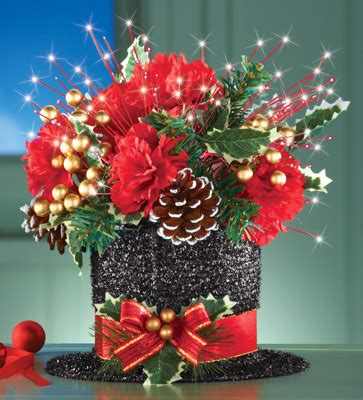 christmas hat floral top hat floral centerpiece from collections etc
