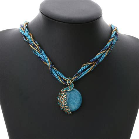 austrian resin lucky peacock bronze pendants