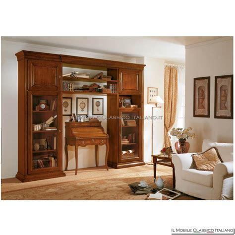 libreria attrezzata libreria parete attrezzata intagliata 0732 c