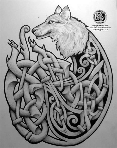 celtic art tattoo designs celtic wolf by design on deviantart