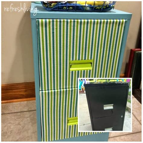 Paint Metal File Cabinet by Updating A Metal Filing Cabinet Refresh Living