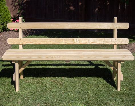 traditional garden bench treated pine traditional garden bench w back