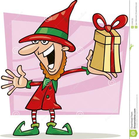 el regalo del duende 8431672560 duende de la navidad con el regalo especial foto de archivo libre de regal 237 as imagen 17035725