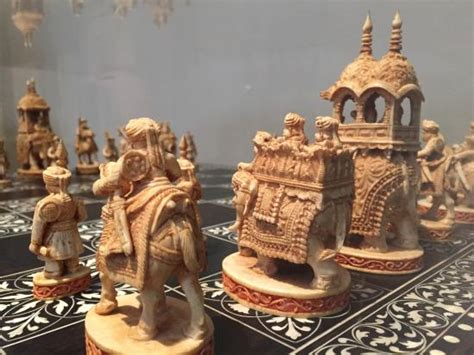 amazing chess sets an amazing indian ivory chess set norton simon picture