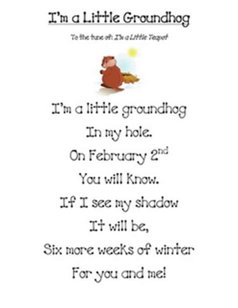 groundhog day musical sheet song quot i m a groundhog quot school stuff