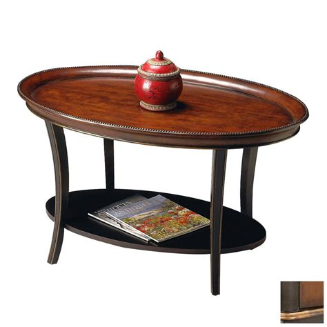 Butler Coffee Table Shop Butler Specialty Artists Originals Cafe Noir Oval Coffee Table At Lowes