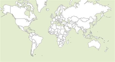 world map with country outlines world map outline with countries printable