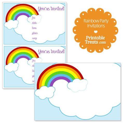 free printable invitation rainbow 17 best ideas about rainbow invitations on pinterest