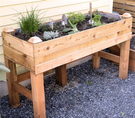 herb garden planter box raised garden bed i have one on my deck like this one