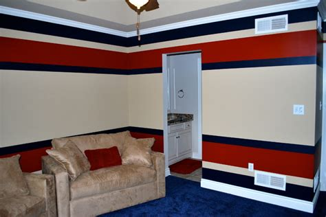 horizontal stripes transitional home theater other