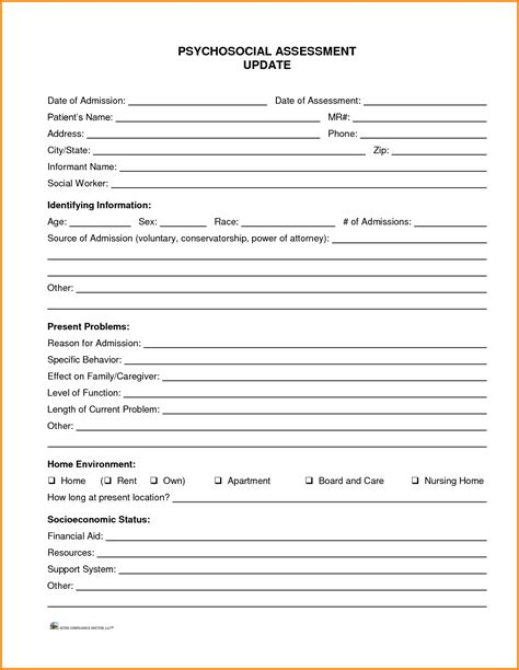 10 social work assessment template cashier resume