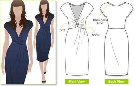 sewing pattern jersey dress stylearc jessica dress