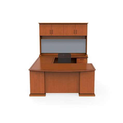 U Shaped Desks With Hutch Office Desk U Shape With Hutch And File Drawers