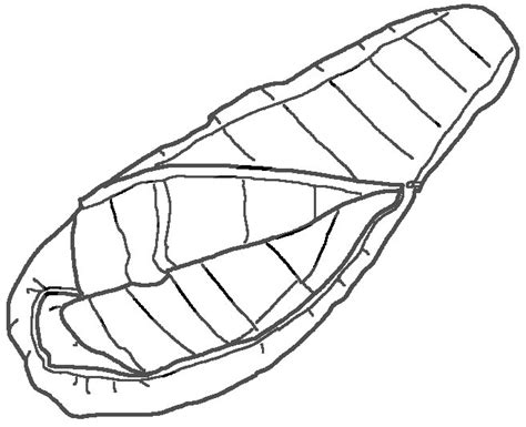 Sleeping Bags Free Coloring Pages Sleeping Bag Coloring Page