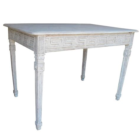 swedish gustavian painted writing desk with drawer or