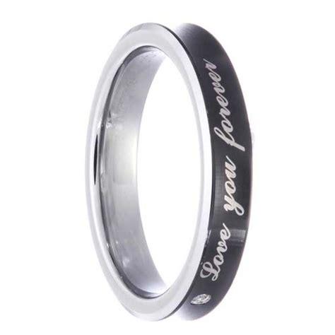 tungsten eclipse round ladies watch timepieces tungsten si1 si2 round diamond men s women s wedding ring
