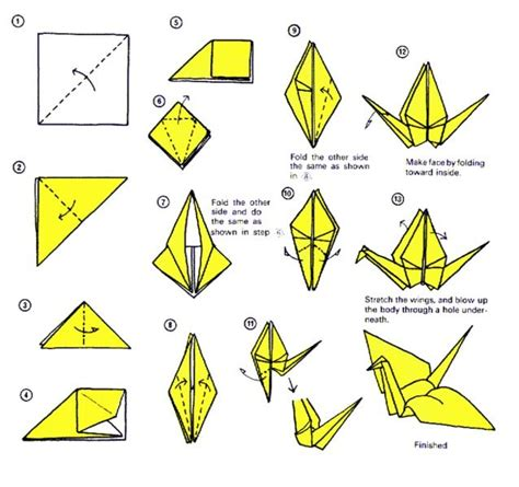 Origami Crane Diagram - make an origami paper crane lessons tes teach