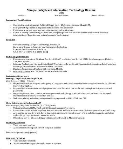 20 it resume templates pdf doc free premium templates