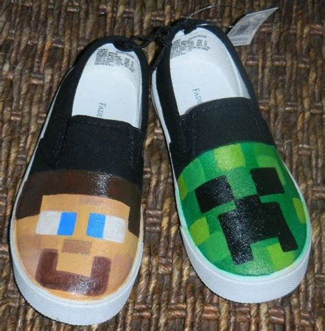 diy minecraft shoes 1000 ideias sobre minecraft shoes no