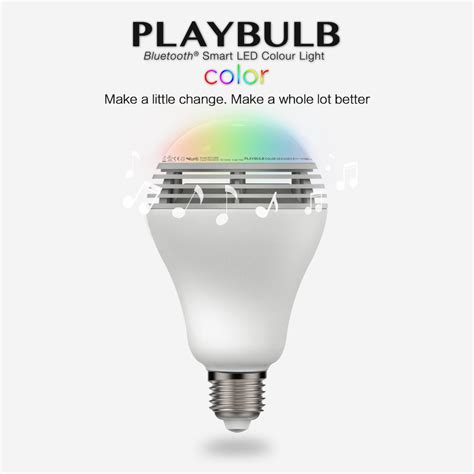 Color Led Light Bulbs Aliexpress Buy Mipow Playbulb Bluetooth Speaker Smart Dimmable Led Light Bulbs Color